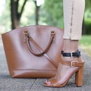 Zara two tone strappy sandals